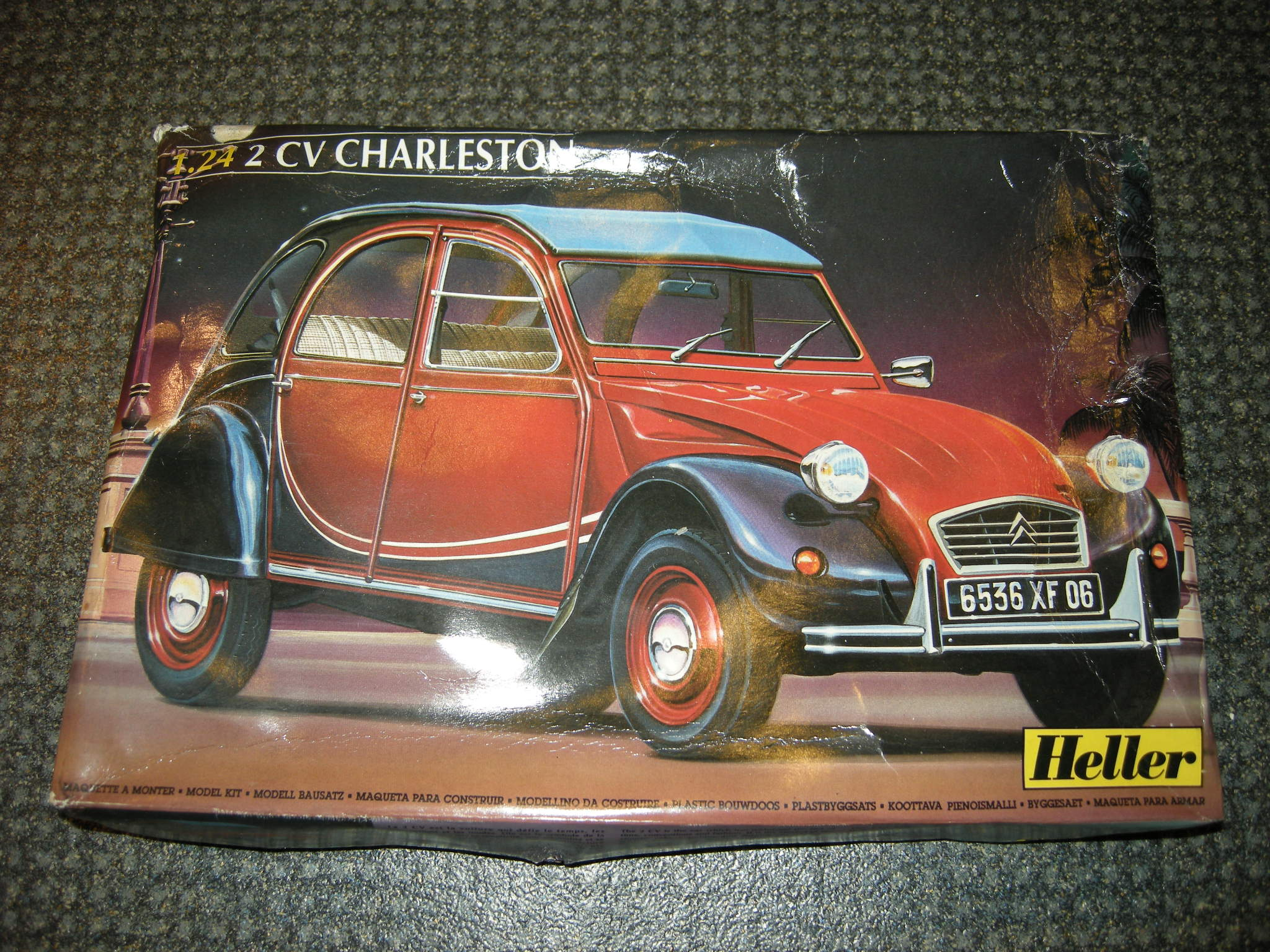 maquette ancienne heller voiture citroen 2cv charleston ref 80765 echelle 1 24 ebay. Black Bedroom Furniture Sets. Home Design Ideas