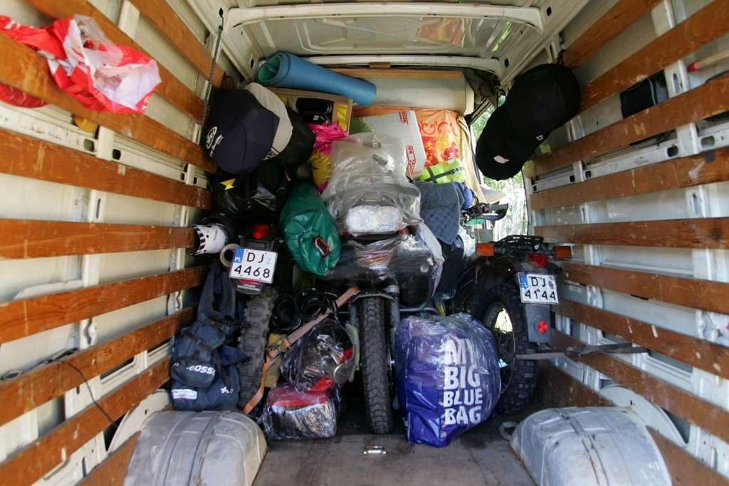 Transport motocykli, organizacja wypraw