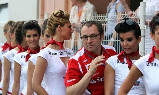 Stefano Domenicali Grid Girls Monaco