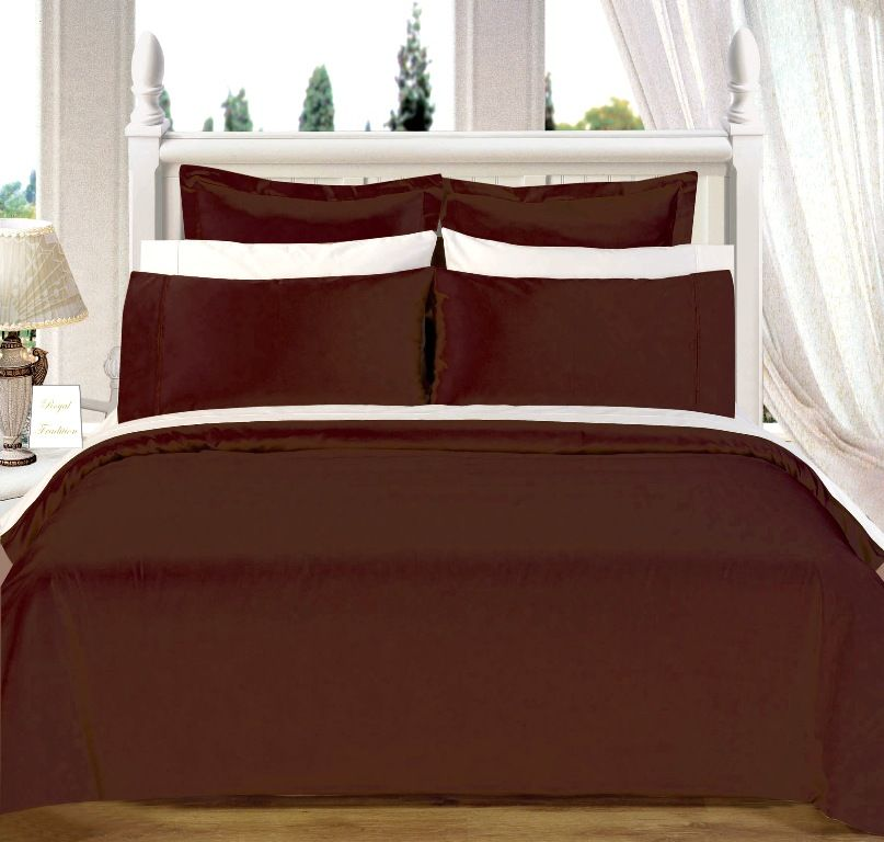 Scotts-sales California-King 8PC CHOCOLATE 550TC Egyptian cotton Bed in a Bag
