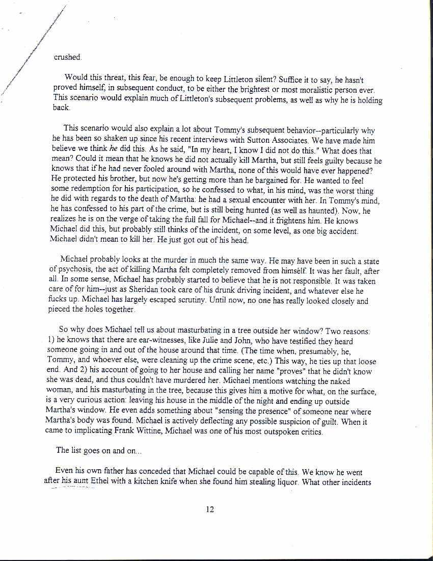 The Sutton Report Moxley Murder Analysis 12