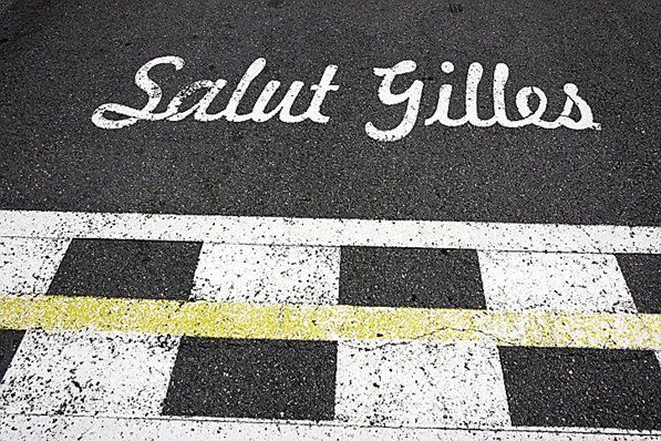 Tribute to Gilles Villeneuve (CDN) on the circuit. Formula One World Championship, Rd 7, Canadian Grand Prix, Montreal, Canada, Thursday, 5 June 2008. © Sutton