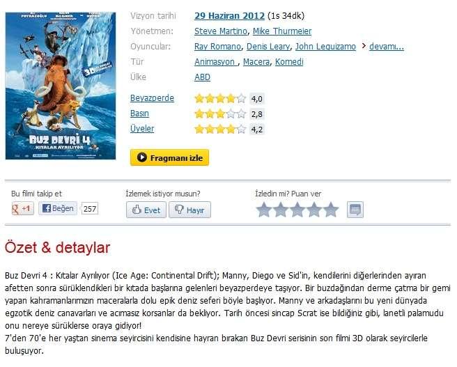 Buz Devri 4 Kıtalar Ayrılıyor - 2012 720p BDRip XviD AC3 - Türkçe Altyazılı indir