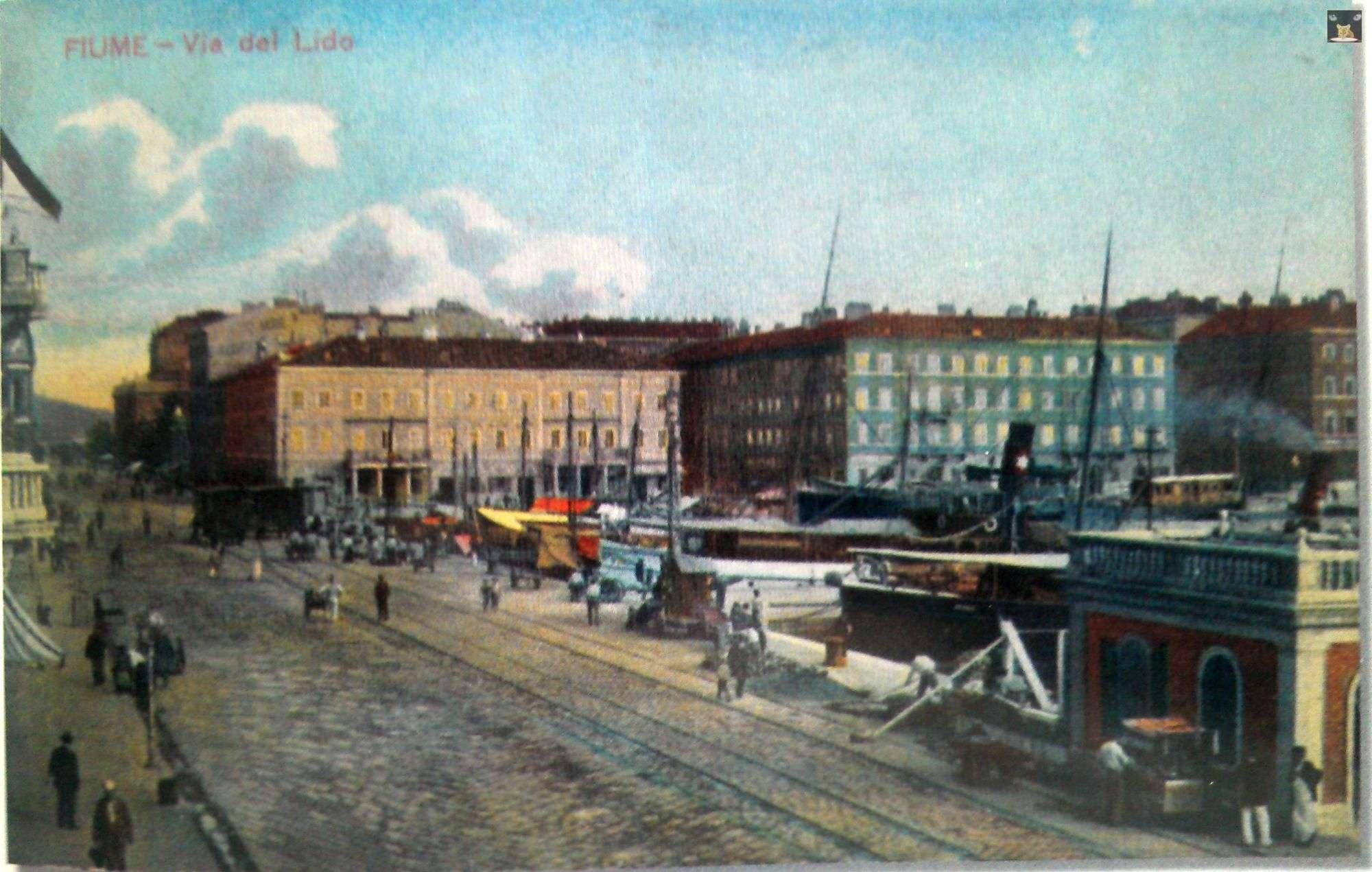Via del Lido Fiume Rijeka Riva