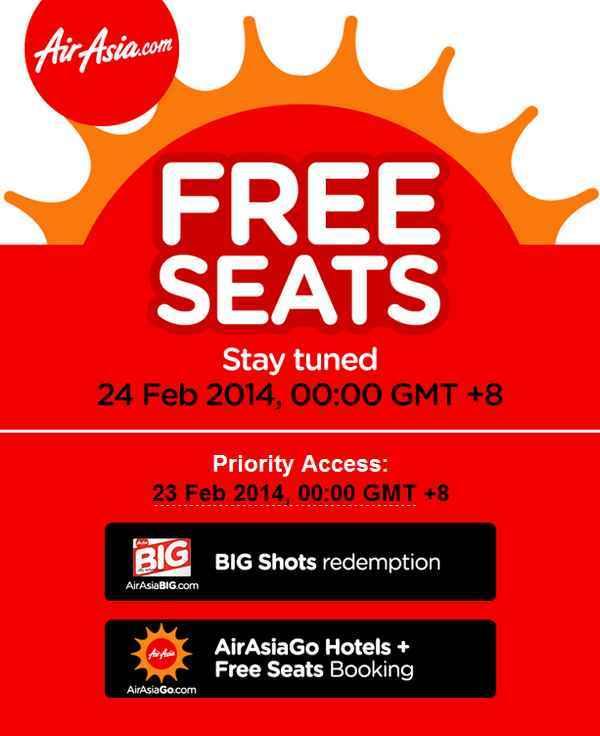 AirAsia Free Seats Promotion 2014 - 2015