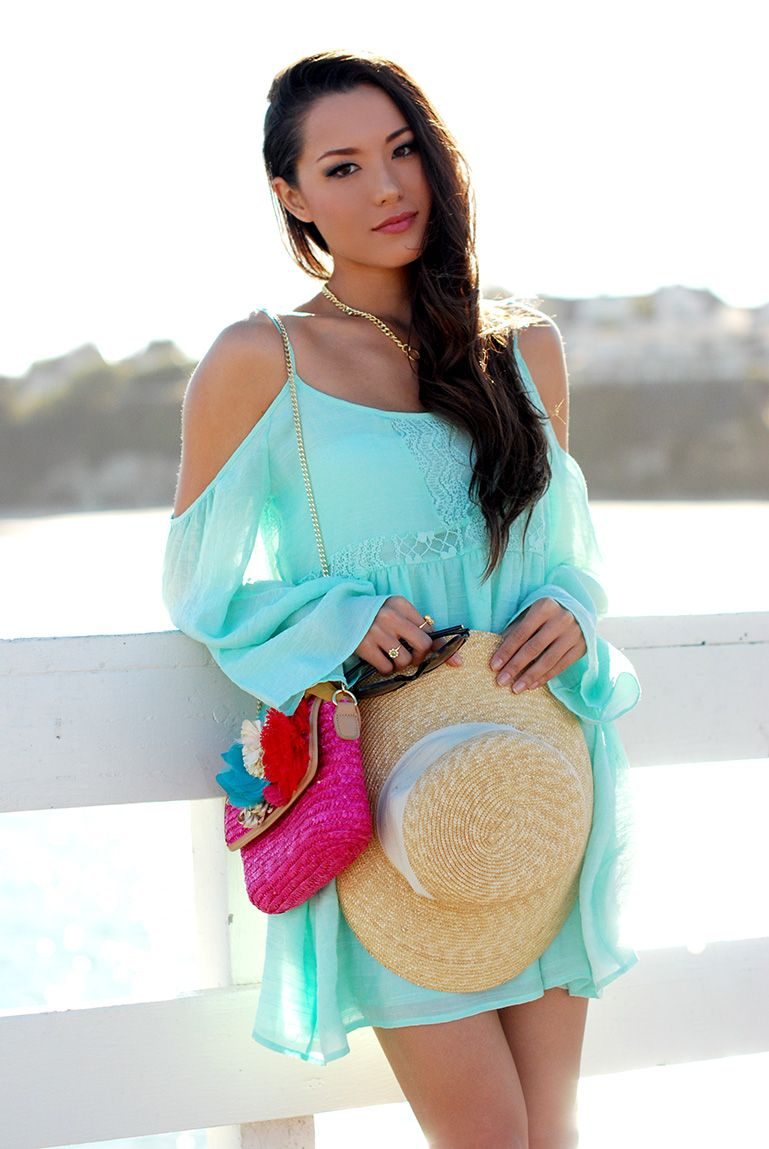 cold-shoulder dress