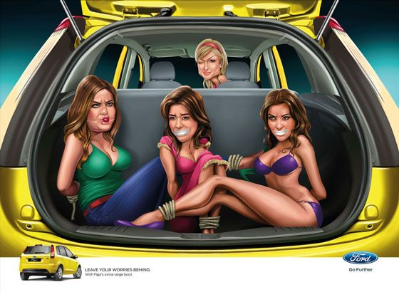 Leave your worries behind. With Ford Figo's extra-large boot. (With Paris Hilton)