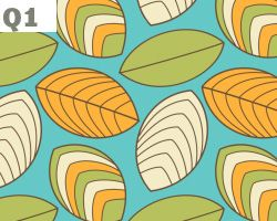 Retro Leaves Pattern