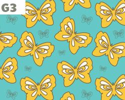 Yellow Butterfly Pattern