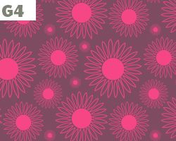 Hot Pink Sunflower Pattern