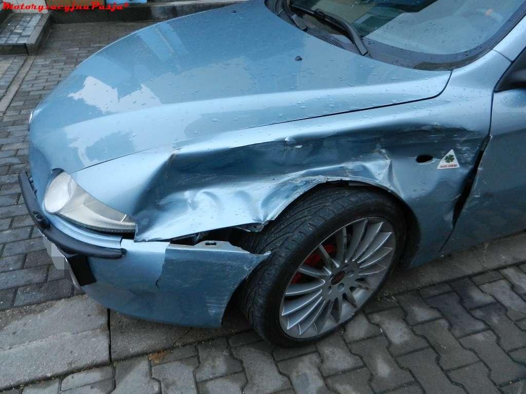 Lewy przód po wypadku