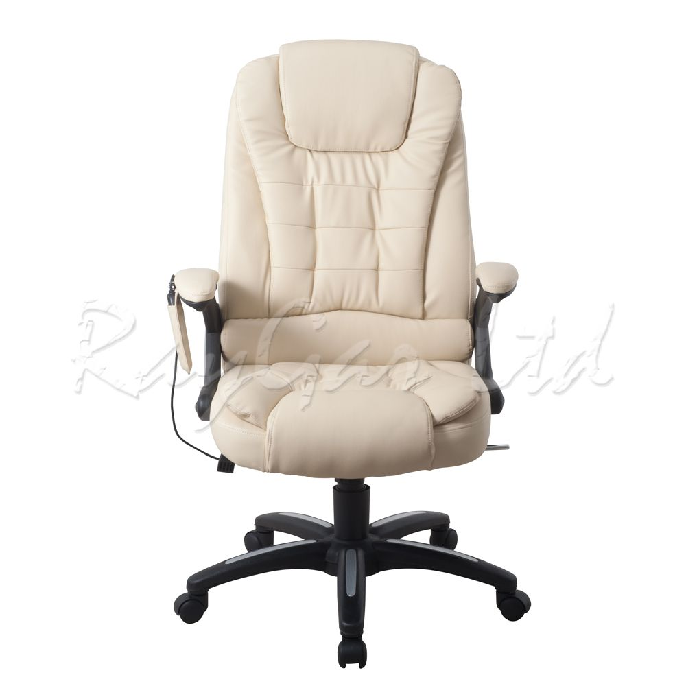 Raygar Executive Leather High Back 6 Point Massage AMP Reclining Desk Office