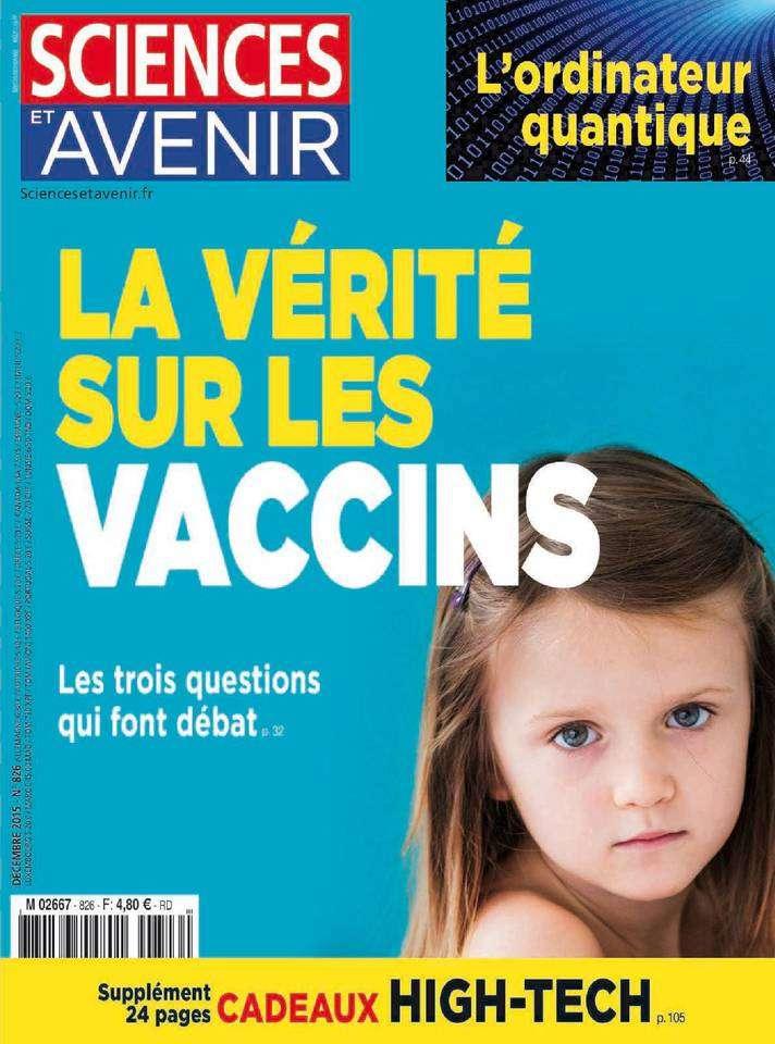 Sciences et Avenir 826 - Décembre 2015