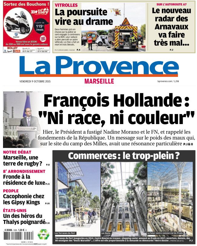 La Provence Marseille du vendredi 09 octobre 2015