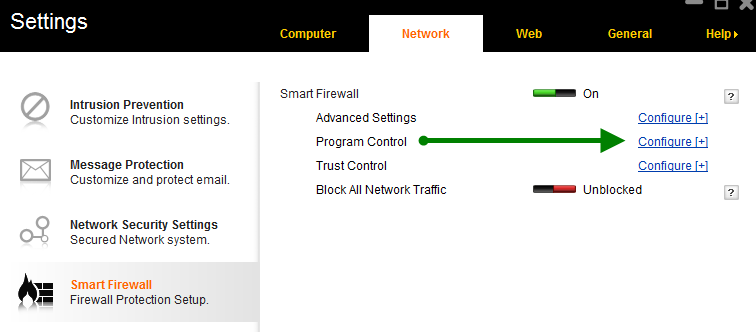 how to add exceptions to norton 360 firewall