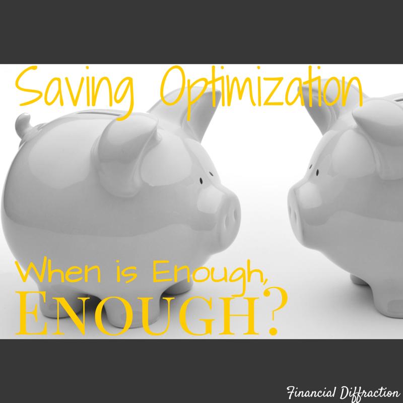 Financial Diffraction - saving optimization when is enough enough?