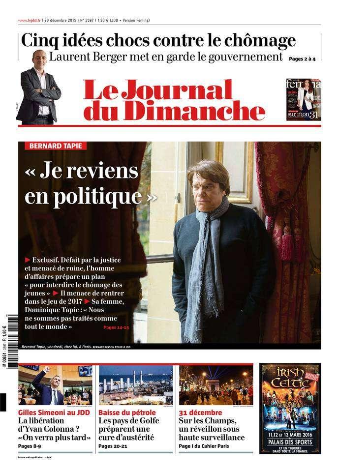 Le Journal du Dimanche - 20 Décembre 2015