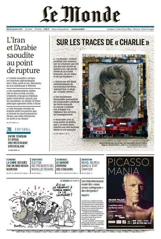 Le Monde de Mardi 5 Janvier 2016