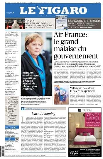 Le Figaro du Jeudi 15 Octobre 2015