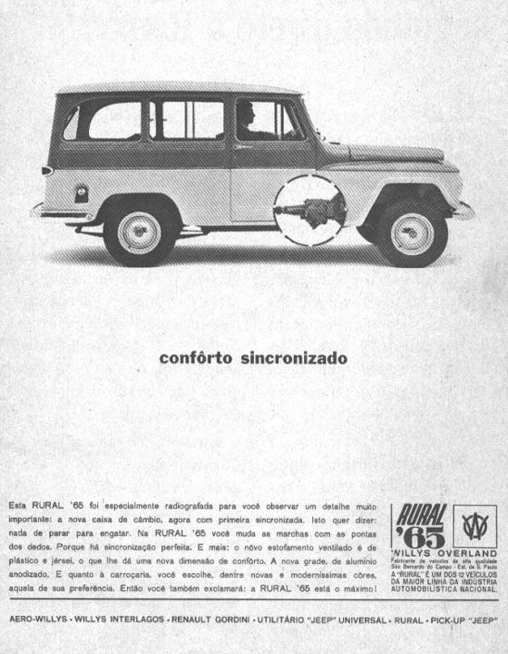 Rural 1965. Conforto Sincronizado.