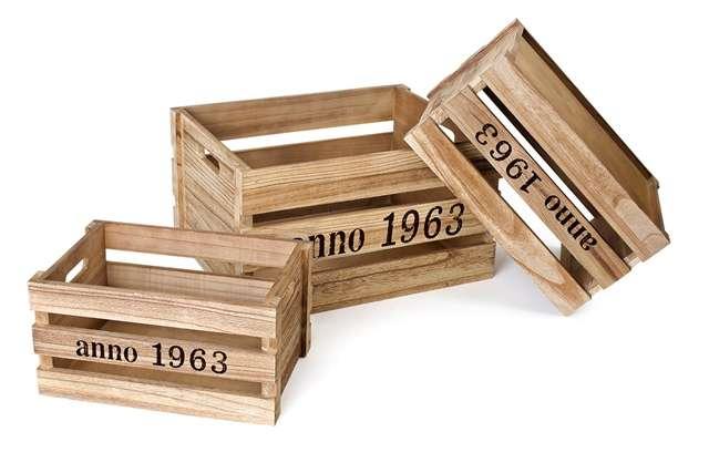 Cajas de madera natural, cajas de madera