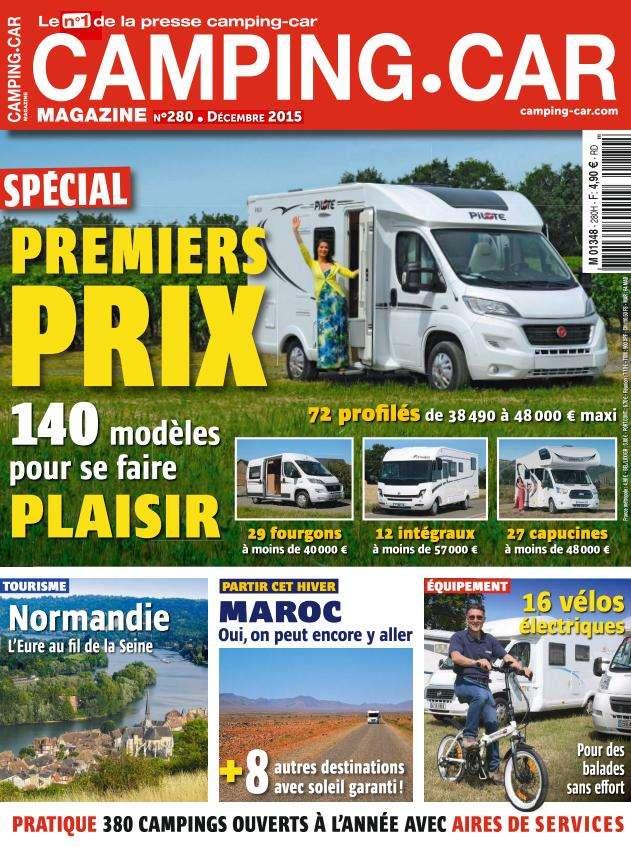 Camping Car Magazine 280 - Décembre 2015