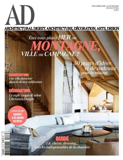 AD Architectural Digest 133 - Décembre 2015/Janvier 2016