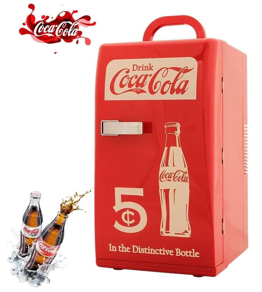 Mini refrigerador frigobar coca cola estilo retro 18 latas for Dispensador de latas para frigorifico
