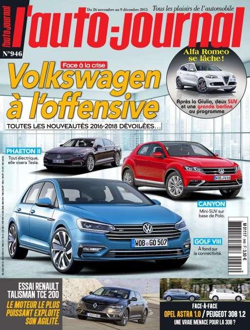 L'Auto-Journal 946 - 26 Novembre au 9 Décembre 2015
