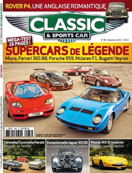 Classic & Sports Car 38 - Décembre 2015