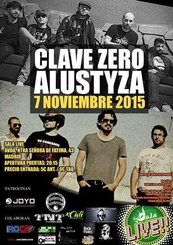 Clave Zero + Alustyza Madrid cartel
