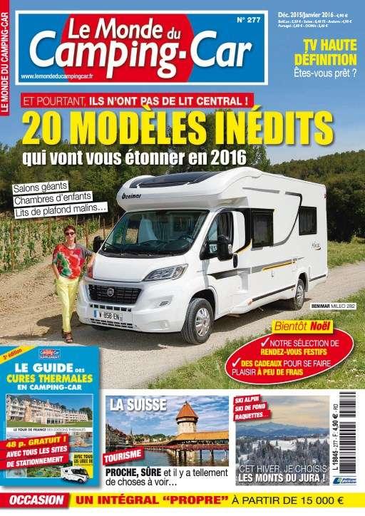 Le Monde du Camping-Car 277 - Decembre 2015 /Janvier 2016