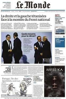 Le Monde + 3 suppléments du Mercredi 2 décembre 2015