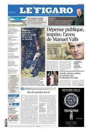 Le Figaro du Samedi 24 octobre 2015
