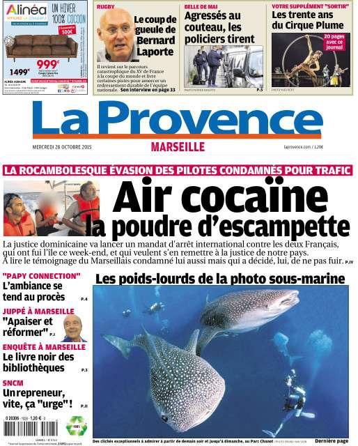 La Provence Marseille du Mercredi 28 Octobre 2015