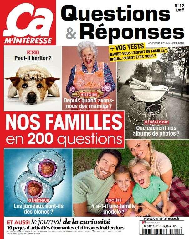 Ça M'intéresse Questions Réponses 12 - Novembre 2015-Janvier 2016