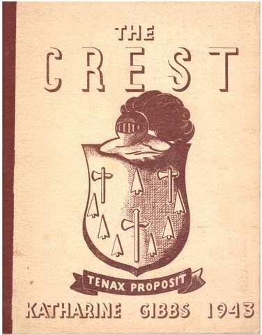 1943 The Crest Katharine Gibbs School Providence RI, staff