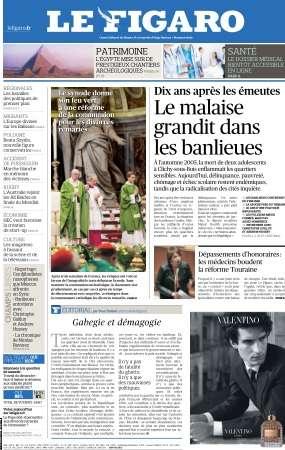 Le Figaro du Lundi 26 Octobre 2015