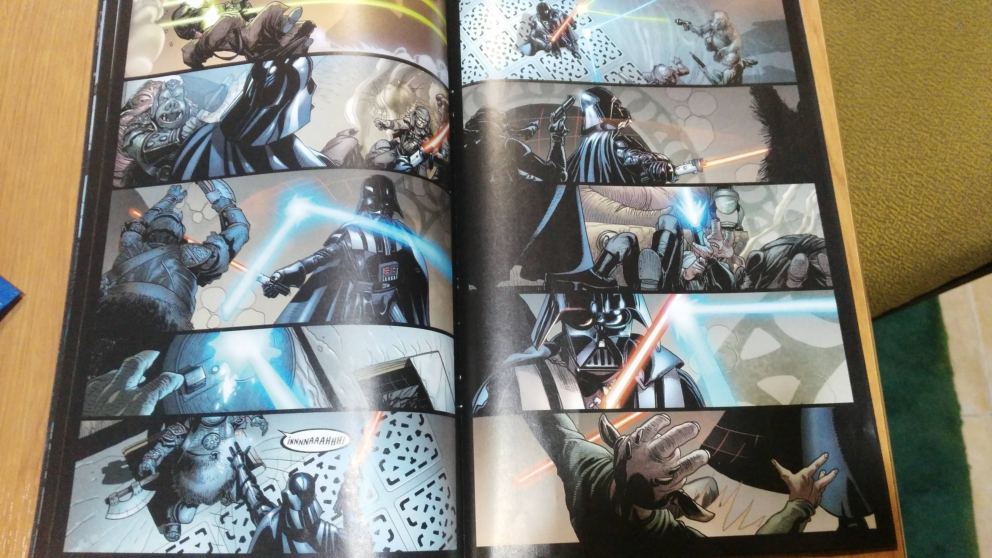 Páginas del cómic Star Wars Darth Vader I