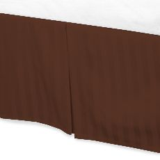 Jay's Home Goods Luxurious 100% Egyptian Cotton 1PC Bed Skirt 600 Thread Count in Stripe Brick Red , Cal King with 14