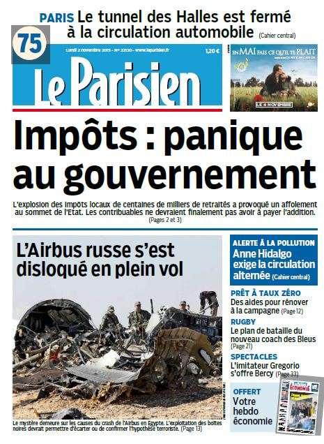Le Parisien du Lundi 02 Novembre 2015
