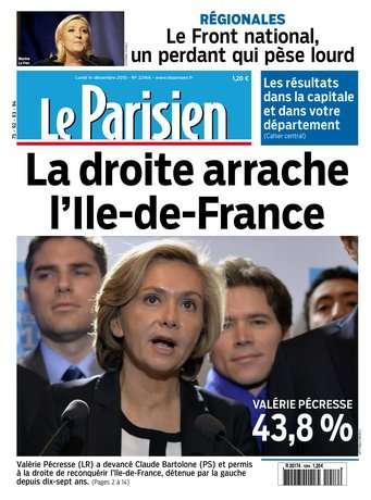 Le Parisien + Journal de Paris du Lundi 14 Decembre 2015