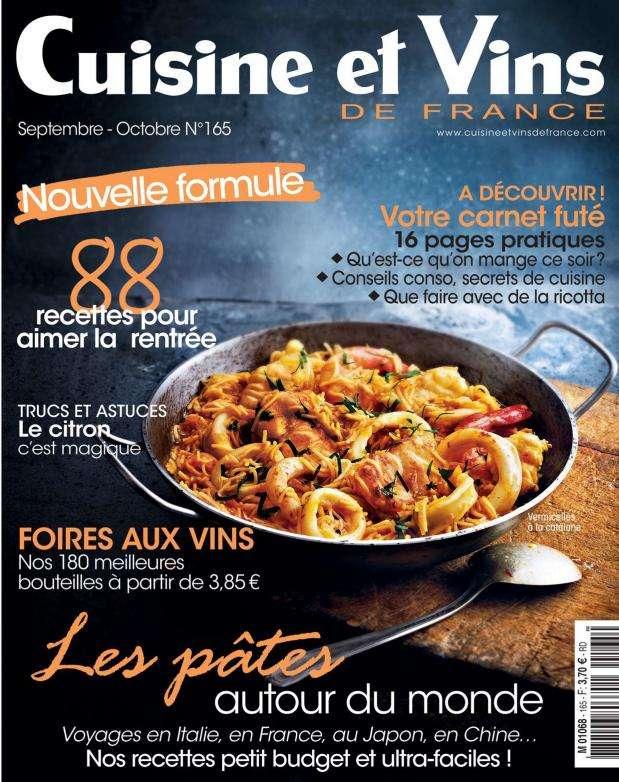 Cuisine et Vins de France – Septembre-Octobre 2015