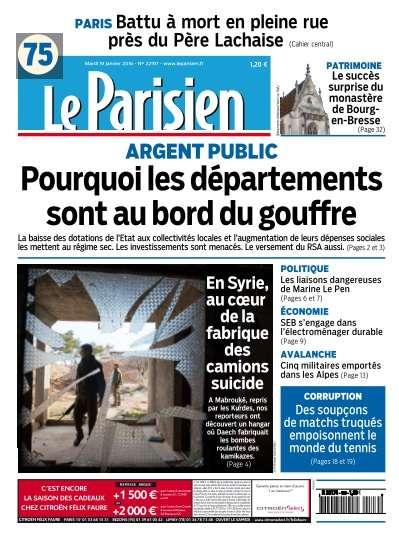 Le Parisien du Mardi 19 Janvier 2016