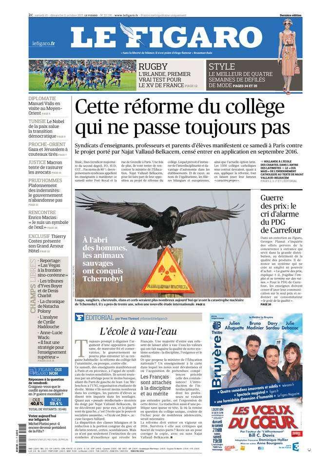 Le Figaro Du Samedi 10 & Dimanche 11 Octobre 2015
