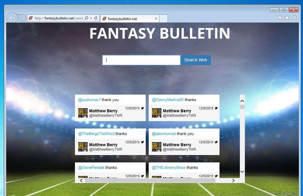 fantasybulletin.net removal