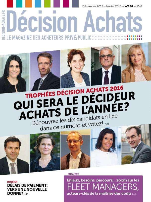 Décision Achats 188 - Décembre 2015/Janvier 2016
