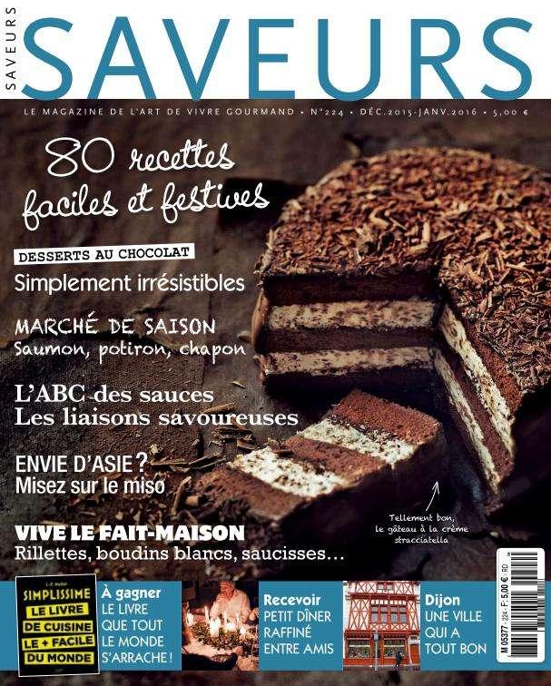 Saveurs 224 – Décembre 2015–Janvier 2016