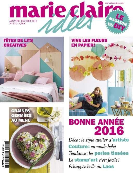 Marie Claire Idées 112 - Janvier-Fevrier 2016