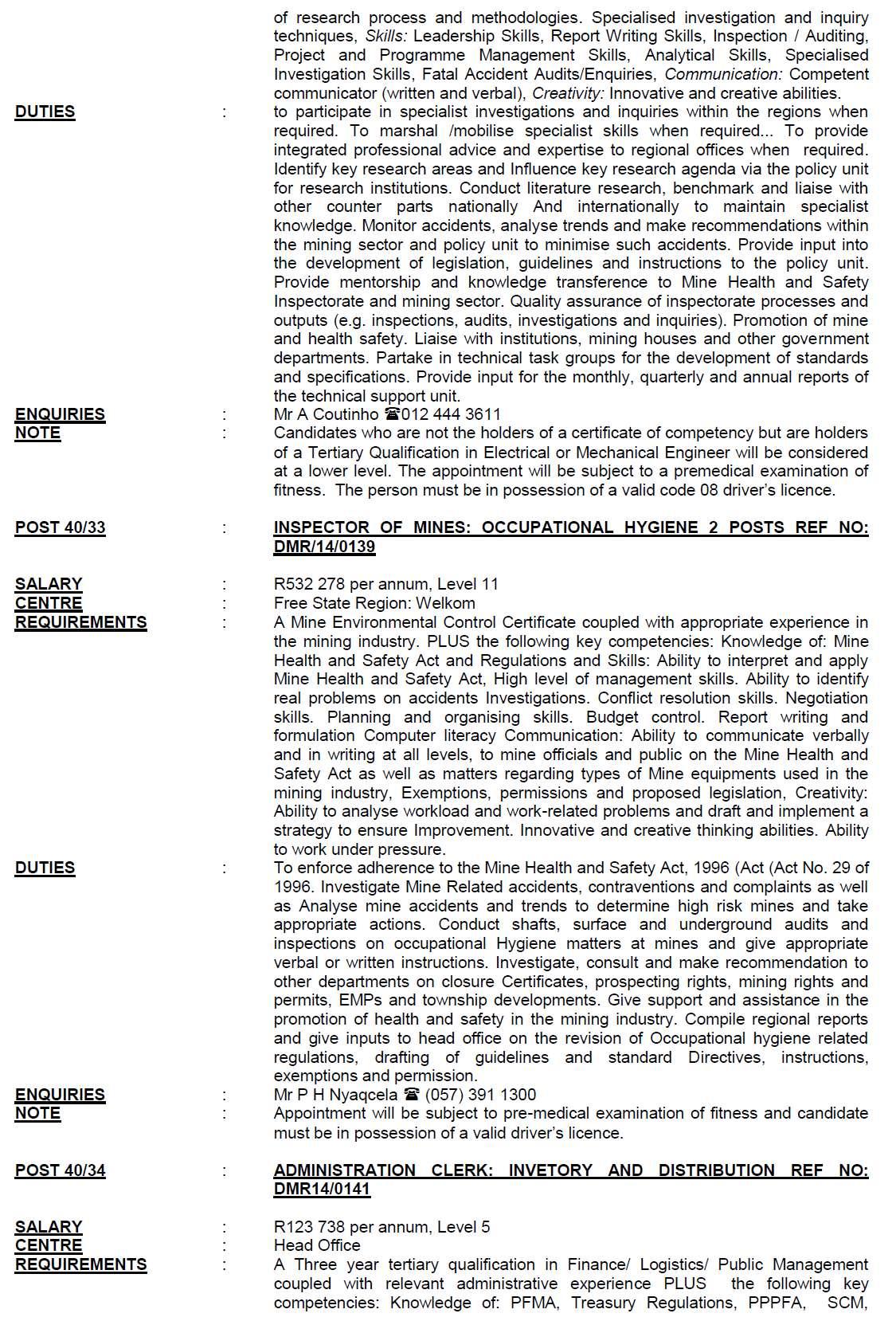 dpsa vacancies circular 40 2014 2015 html